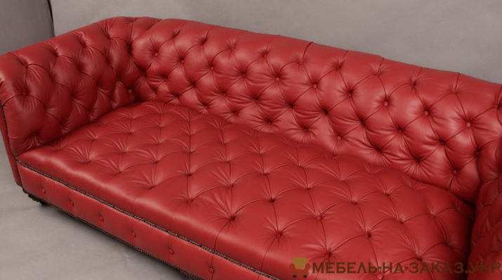 кожаная мягкая мебель в стиле честер на заказ