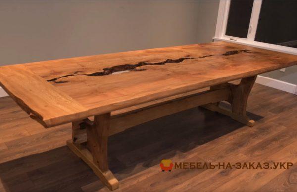 авторский стол из старого дуба