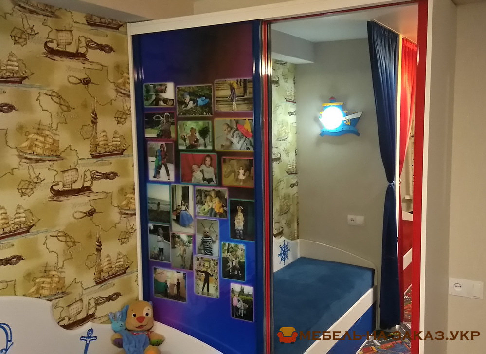 шкаф-купе детский с фотографиями