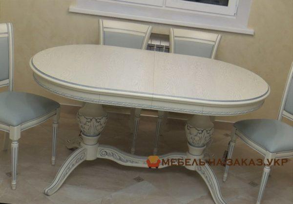 большой стол обеденный из массива ясеня