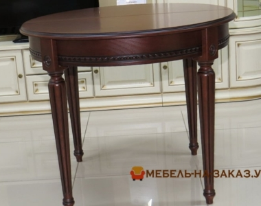 круглый стол обеденный на заказ из дерева