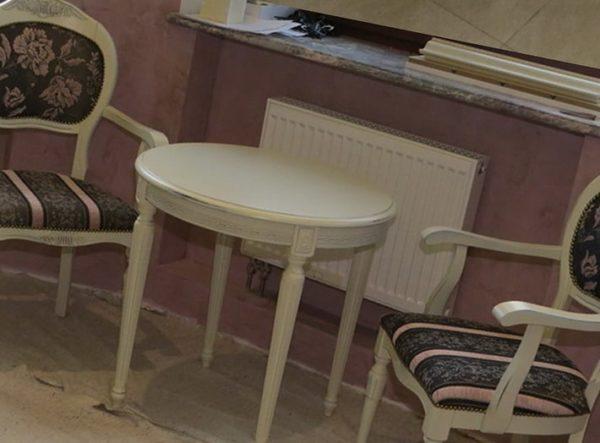 круглый белый обеденный стол под заказ
