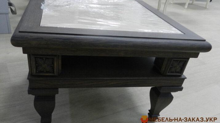 деревянный кофейный столик на заказ Киев
