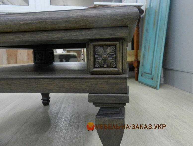 деревянный кофейный столик на заказ харьков