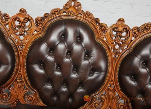 заказать кожаный прямой диван в Киеве недорого
