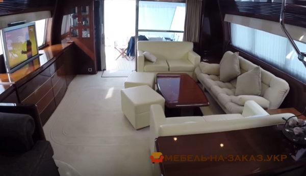 диваны и кресла для яхт
