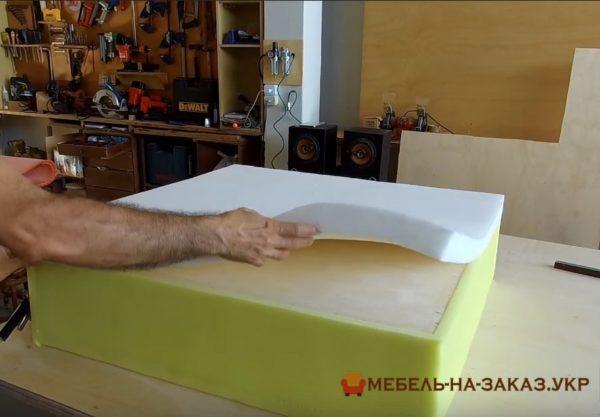 этапы изготовления пуфа под заказ