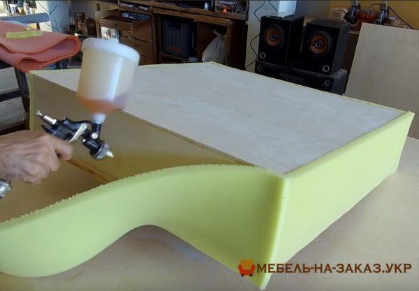 этапы изготовления пуфика