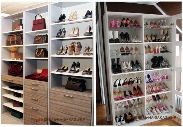 обувный шкаф под заказ Украина