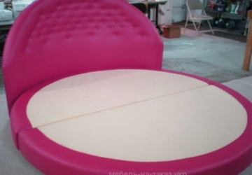 розовая мягкая кровать на заказ