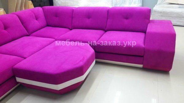 модульный диван розового цвета