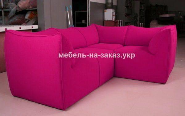 угловой розовый диван заказать