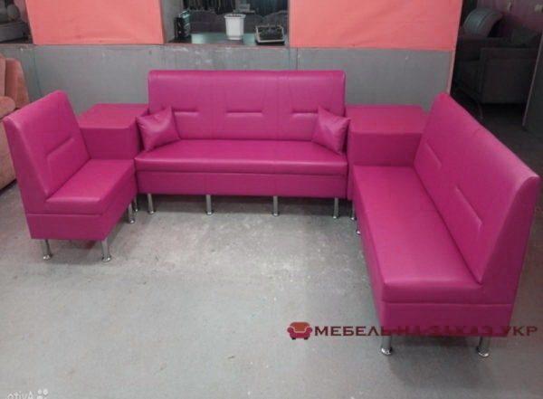 розовый диван в офис