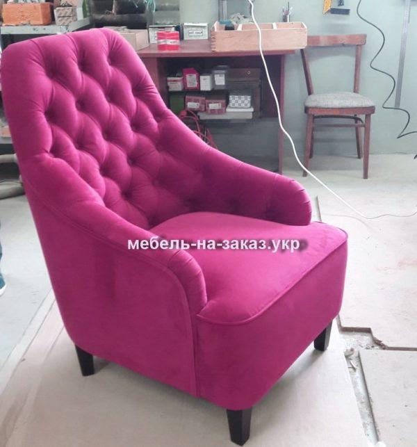 розовое кресло на заказ честер
