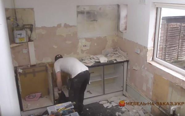 разборка старой кухни