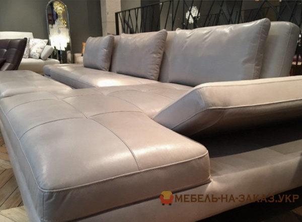 угловой диван с пуфиком на заказ Ирпень