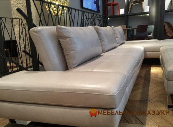 угловой диван с пуфиком на заказ Одесса