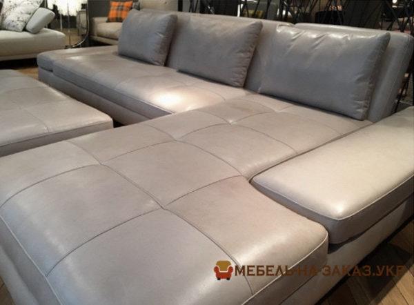 угловой диван с пуфиком на заказ в Киеве