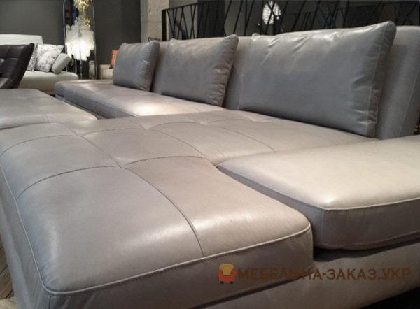 угловой диван с пуфиком на заказ