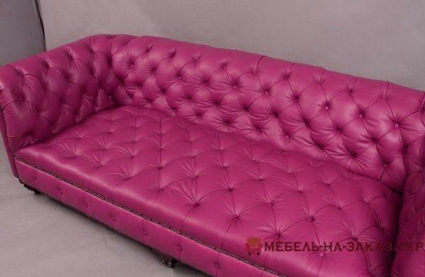 Мягкая мебель розового цвета Честер