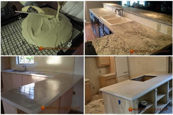 бетонная столешница для кухни