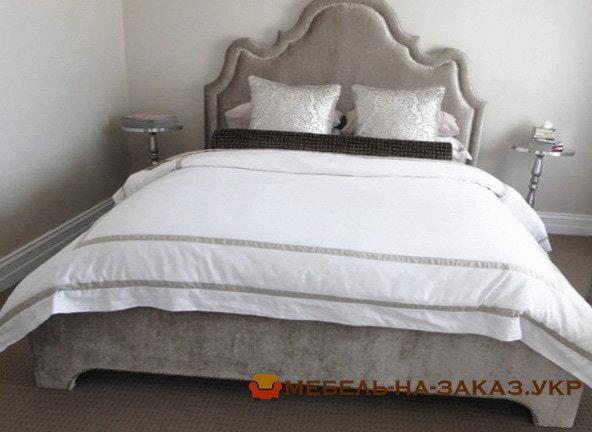 кровать мягкая с большим изголовьем Одесса