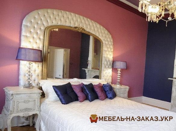 Дизайнерская мягкая кровать с мягким изголовьем на заказ Конча заспа