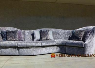 радиусный бежевый диван в Киеве