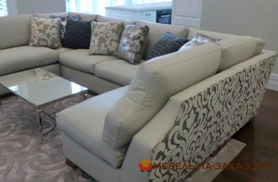 шикарный диван п образной формы