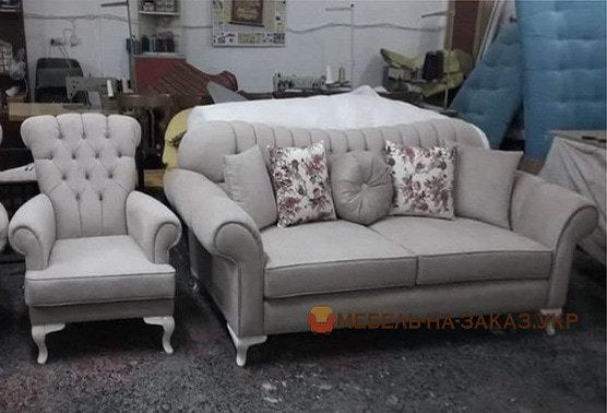 проекты прямой мягкой мебели