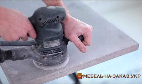 как делают бетонную столешницу