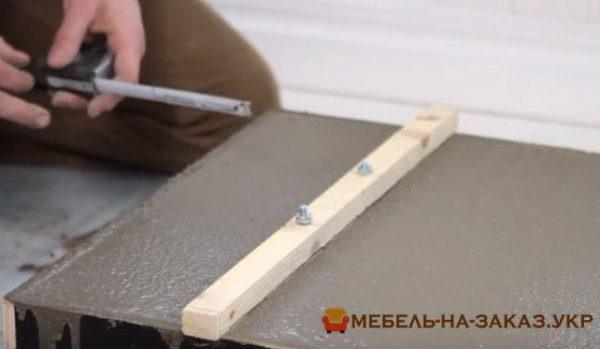как делают бетонную столешницу на заказ в Киеве