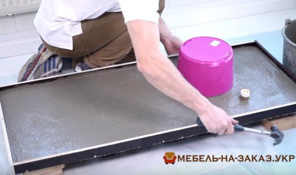 как делают бетонную столешницу на заказ для кухни