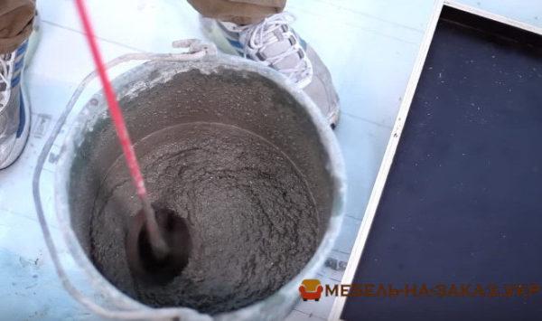 как делают бетонную столешницу на заказ для кухонной мебели