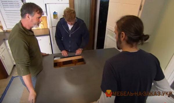 как сделать бетонную столешницу
