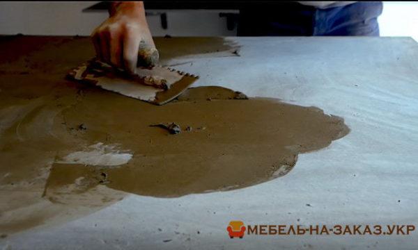как сделать бетонную столешницу для кухни на заказ