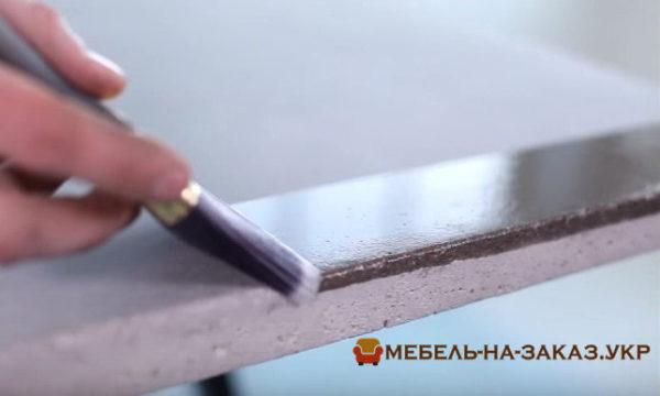 покрытие бетонной столешницы в кухню
