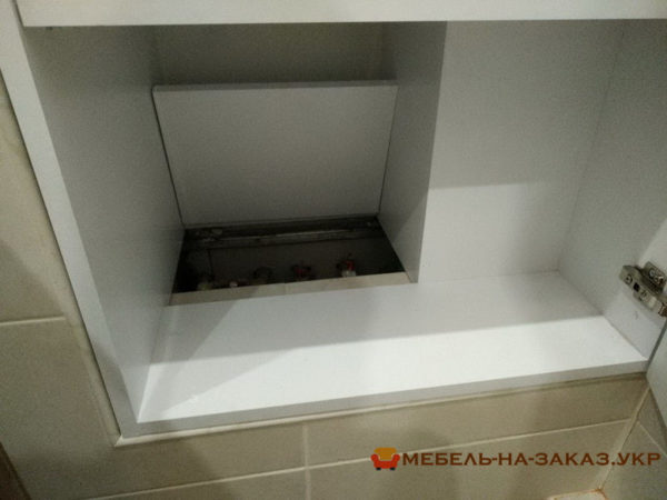 встроенная мебель в ванную на заказ в Киеве