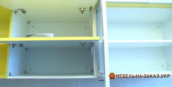 желтая параллельная кухня на заказ в Ирпень
