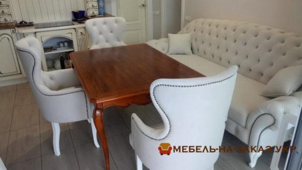 кухонная мягкая мебель Честерфилд на заказ Киев