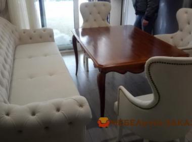 дива кресла пуфик и стол в кухню на заказ