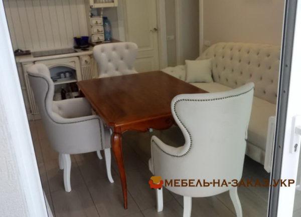дива кресла пуфик и стол в кухню на заказ Честер