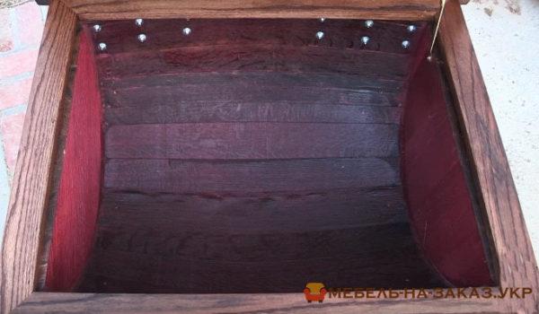 ящик из деревянной бочки на заказ