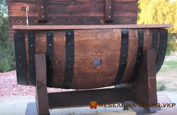 ящик из деревянной бочки