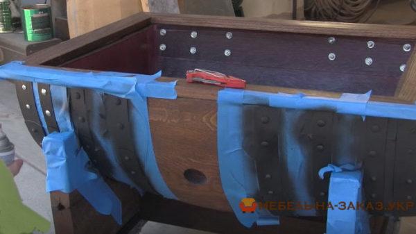 как делают мебель из бочки