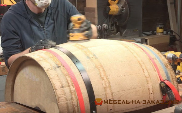 производство мебели из бочки