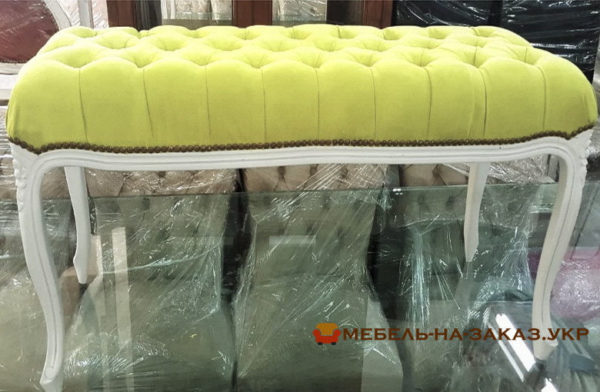 желтый прямой диван-кушетка на заказ