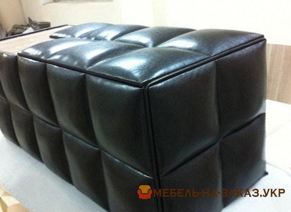 черный квадратный пуф кушетка под заказ