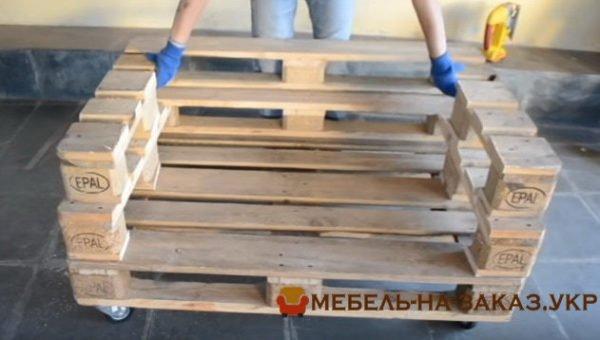как сделать самостоятельно мебель из деревянных паллет