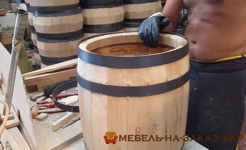 изготовление деревянной бочки на заказ из дерева